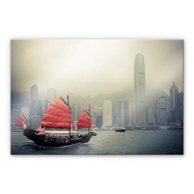Acrylglasbild Sailing in Hongkong
