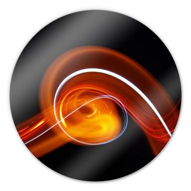 Glasbild Lichtwelle - rund