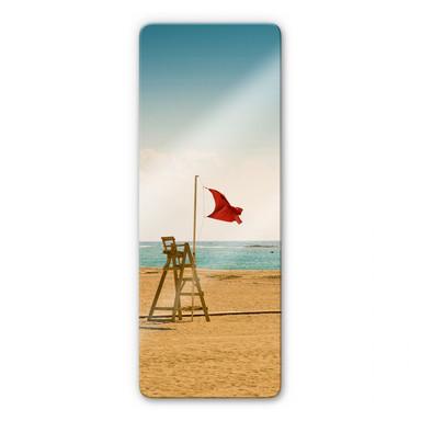 Glasbild Rote Fahne