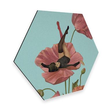 Hexagon - Alu-Dibond Léon - Colourful Dreamer