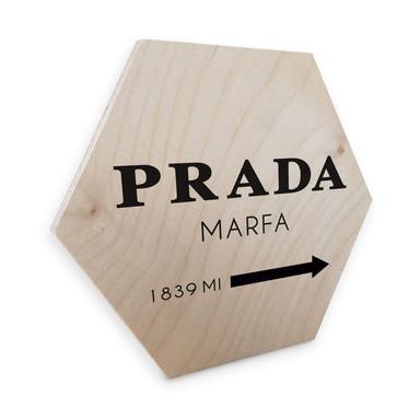 Hexagon - Holz Birke-Furnier - Prada Marfa