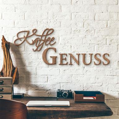 Holzbuchstaben Mahagoni - Kaffee Genuss