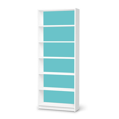 Klebefolie IKEA Billy Regal 6 Fächer - Türkisgrün Light- Bild 1