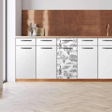 Küchenfolie - Unterschrank 40cm Breite - Vineyard