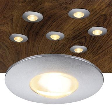LED Möbeleinbauspot Dekled, silbergrau, 3000K, 60lm