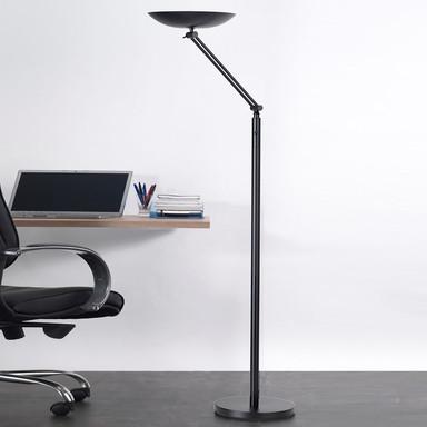LED Stehleuchte Varialux 29.9W 2200lm aus Stahl in Schwarz