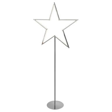 LED Sternstehleuchte Lucy in Chrom 3W 100cm
