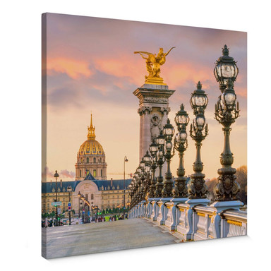 Leinwandbild Pont Alexandre III - Quadratisch