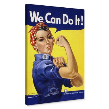 Leinwandbild Vintage We can do it