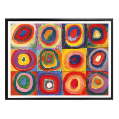Poster Kandinsky - Farbstudie: Quadrate und konzenzentrische Ringe