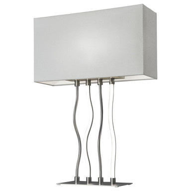 Tischleuchte Viper in Weiss und Silber 5W E27