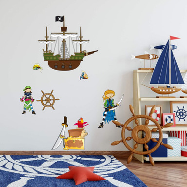 Wandsticker Piratenwelt 1
