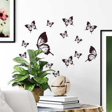 Wandtattoo Elegante Schmetterlinge (14-teilig)