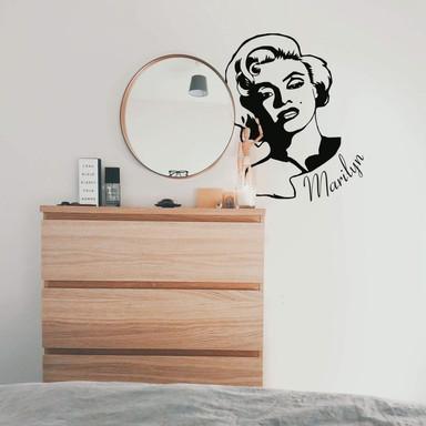 Wandtattoo Marilyn