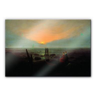 Acrylglasbild Friedrich - Mondaufgang über dem Meer