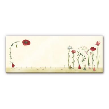 Acrylglasbild Leffler - Blumensamen - Panorama