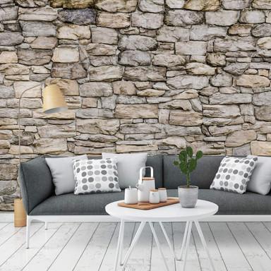Fototapete - Steinmauer