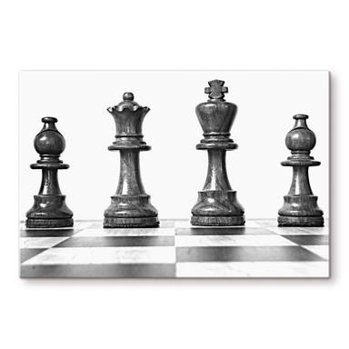 Glasbild Schach Symmetrie