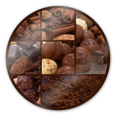 Glasbild Schokoladentraum - rund