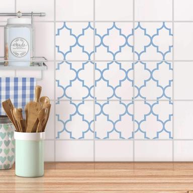 Klebefliesen - Retro Pattern - Blau