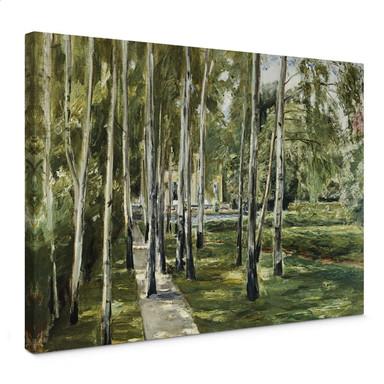 Leinwandbild Liebermann - Der Garten des Künstlers