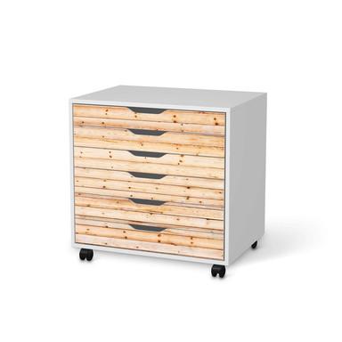 Möbelfolie IKEA Alex Rollcontainer 6 Schubladen - Bright Planks