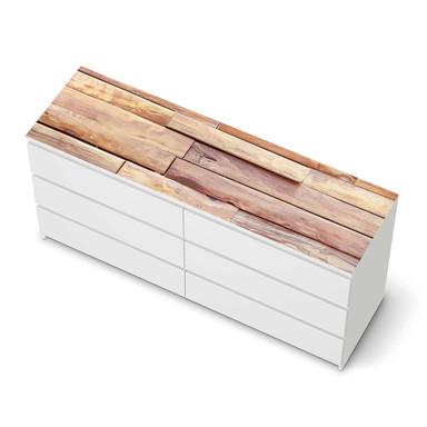 Möbelfolie IKEA Malm Kommode 6 Schubladen (breit) oben - Artwood