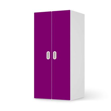 Möbelfolie IKEA Stuva / Fritids Schrank - 2 grosse Türen - Flieder Dark