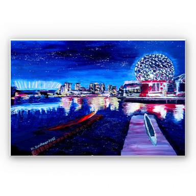 Wandbild Bleichner - Vancouver bei Nacht