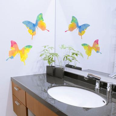 Wandtattoo Aquarell Schmetterlingspärchen