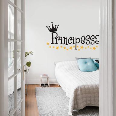 Wandtattoo Principessa (2-farbig)