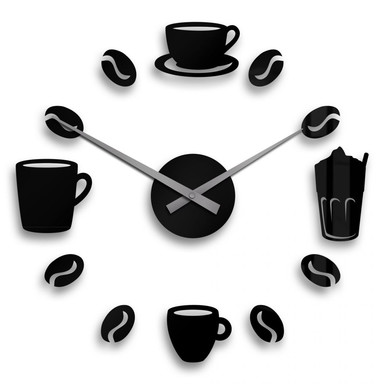 Wanduhr Coffee Time