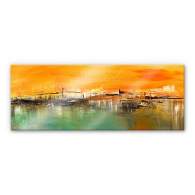Acrylglasbild Niksic - Am Wasser - Panorama