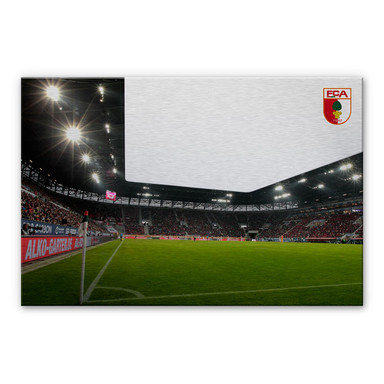Alu-Dibond Bild FC Augsburg Stadion Eckfahne