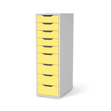 Folie IKEA Alex 9 Schubladen - Gelb Light