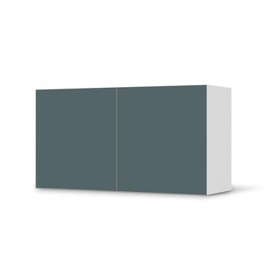 Folie IKEA Besta Regal 2 Türen (quer) - Blaugrau Light