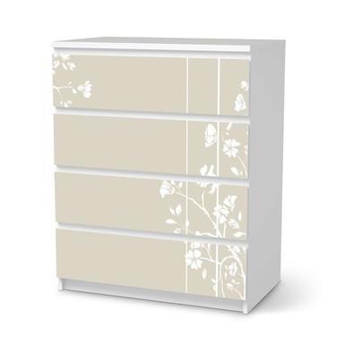 Folie IKEA Malm Kommode 4 Schubladen - Florals Plain 3- Bild 1