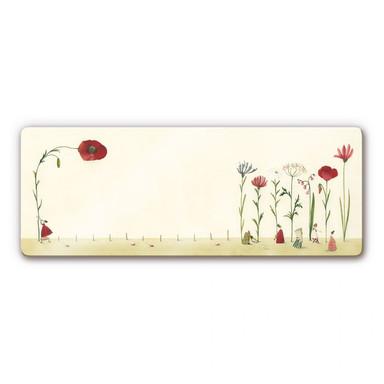 Glasbild Leffler - Blumensamen - Panorama