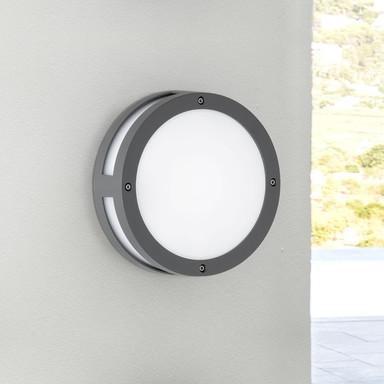 LED Aussenwandleuchte Astoria in anthrazit, rund, Lichtaustritt vorne und rundherum