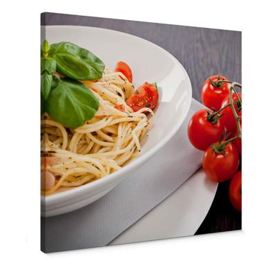Leinwandbild Pasta Italiano - quadratisch