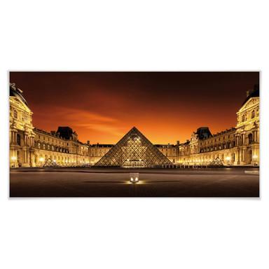 Poster Kiciak - Illuminated Louvre