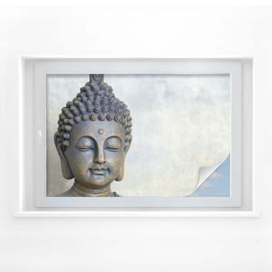 Sichtschutzfolie Buddha Gesicht