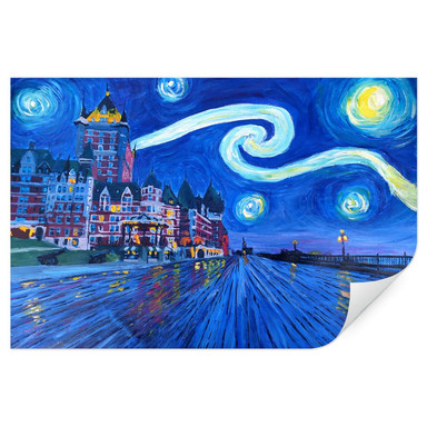 Wallprint Bleichner - Starry Night in Quebec