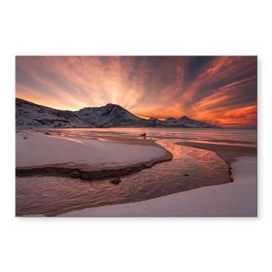 Acrylglasbild Zakravsky - Goldener Sonnenuntergang
