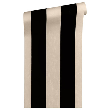 Architects Paper beflockte Tapete Castello schwarz, metallic