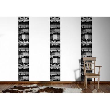 Livingwalls Wandtattoo pop.up Panel Paris Frankreich selbstklebend beige, grau, schwarz