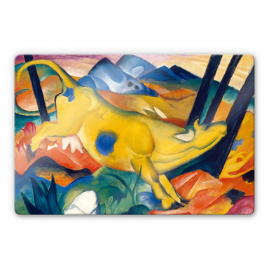 Glasbild Marc - Die gelbe Kuh