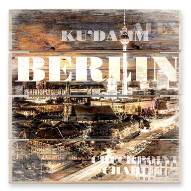 Holzbild Berlin Szenerie