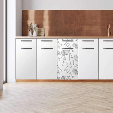 Küchenfolie - Unterschrank 40cm Breite - Vino