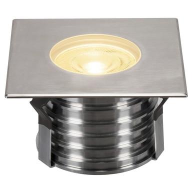 LED Eckige Bodeneinbauleuchte Dasar Premium, 177 mmx177 mm, IP67 Edelstahl 316. 24°, 177 mmx177 mm